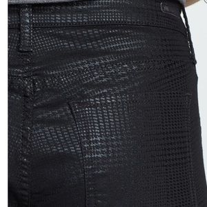 Kut from the Kloth Jeans - Kut Mia Toothpick Houndstooth Black Jeans